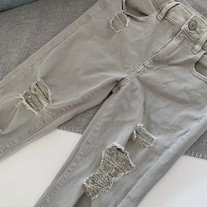 Gray Ripped Pants